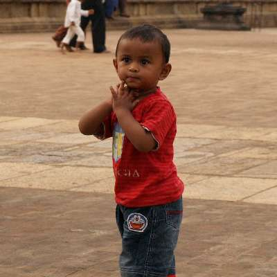 Aadhi praying to God